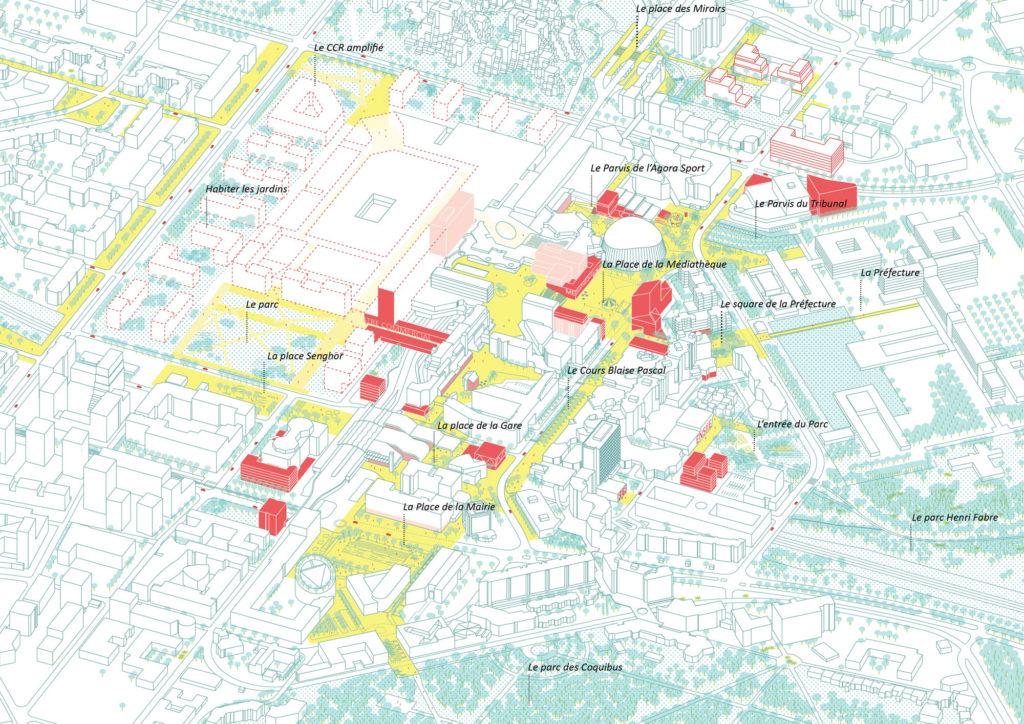 evry centralité stratégie urbaine isométrie